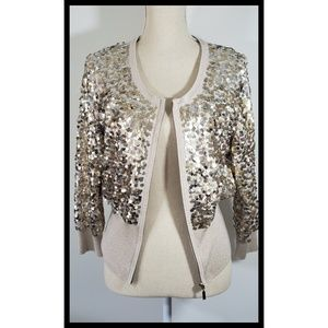 White House-Black Market Gold Sequin Sweater
